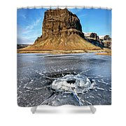 Lomagnupur Mountain Iceland Shower Curtain