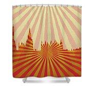 London Pop Art Shower Curtain