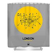 London Yellow Subway Map Shower Curtain
