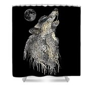 Lone Wolf Shower Curtain by Mark Taylor
