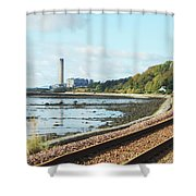 Longgannet Power Station And Railway Shower Curtain