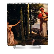 Look Any Laughs To The Plains Shower Curtain