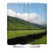 looking down Ettrick valley in Selkirkshire in summer Shower Curtain