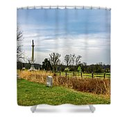Looking Down The Union Line Shower Curtain