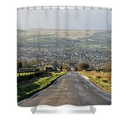 Looking Down Yorkgate Shower Curtain