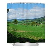 looking westwards in Tweed valley Shower Curtain