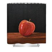 Lopsided Apple Shower Curtain