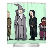 Lord Of The Hill Shower Curtain