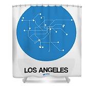 San Francisco Blue Subway Map Shower Curtain
