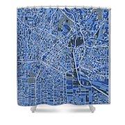 Los Angeles Map Retro 5 Shower Curtain