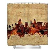 Los Angeles Skyline Vintage Shower Curtain
