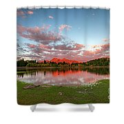 Lost Lake Sunset Shower Curtain