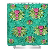 Lotus Bloom In The Sacred Soft Warm Sea Shower Curtain
