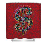 Louis Vuitton Dollar Sign-7 Shower Curtain