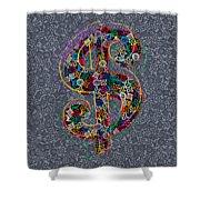 Louis Vuitton Dollar Sign-9 Shower Curtain