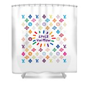 Louis Vuitton Monogram-10 Shower Curtain
