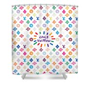 Louis Vuitton Monogram-12 Shower Curtain