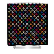 Louis Vuitton Monogram-4 Shower Curtain