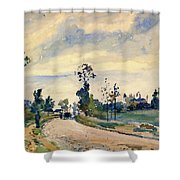 Louveciennes, Road Of Saint-germain - Digital Remastered Edition Shower Curtain
