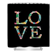L.o.v.e Shower Curtain