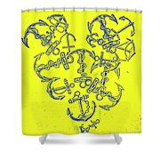 Love At Every Port Shower Curtain