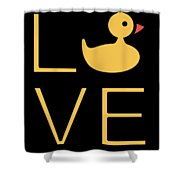 Love Ducks Super Cute And Very Fun Love Gift Idea Design Shower Curtain