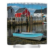 Low Tide At Blue Rocks 02 Shower Curtain