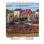Low Tide At Blue Rocks 05 Shower Curtain