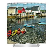 Low Tide At Blue Rocks 01 Shower Curtain