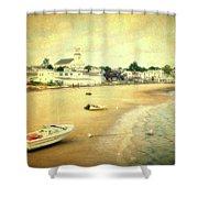 Low Tide Provincetown Cape Cod Massachusetts Shoreline Textured Shower Curtain