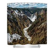 Lower Falls In Yellowstone Shower Curtain