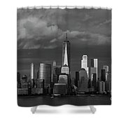 Lower Manhattan Shower Curtain