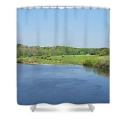 lower river Tweed near Horncliffe Shower Curtain