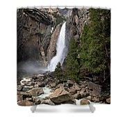 Lower Yosemite Fall Shower Curtain