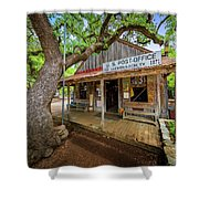 Luckenbach Town Shower Curtain