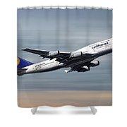 Lufthansa Boeing 747-430 Shower Curtain