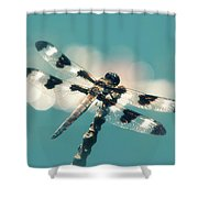 Luminous Dragonfly Shower Curtain
