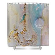 Lunar Drift #1 Shower Curtain