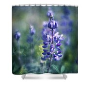 Lupine Blues Shower Curtain
