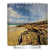 Luskentyre Digital Painting Shower Curtain