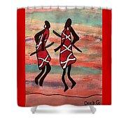 Maasai Dancers Shower Curtain