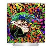 Macaw High I Shower Curtain