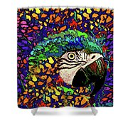 Macaw High II Shower Curtain