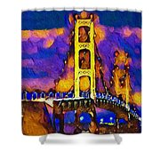 Mackinac At Dusk Shower Curtain