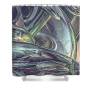 Macro Glass Reflections Shower Curtain