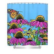 Magnificant Monarch Shower Curtain