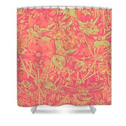 Magnolia Abstract Shower Curtain