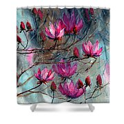 Magnolia At Midnight Shower Curtain
