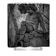 Magnolia Child Statue Shower Curtain