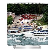 Maid Of The Mist Tour Boat At Niagara Falls Shower Curtain by Rose Santuci-Sofranko